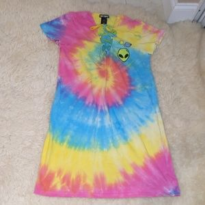 Hot Topic Tie Dye Alien Dress Small Medium